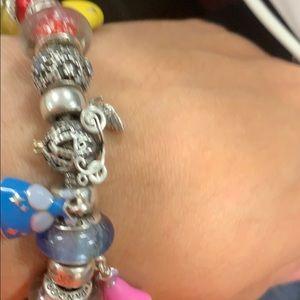 Authentic pandora Disney Princess bracelet w/charm